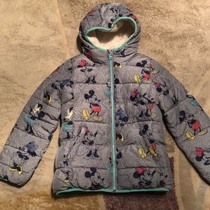 gap Disney girls winter warm jacket size large